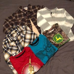 A Bundle of a Variety of Size 4/5 Shirts